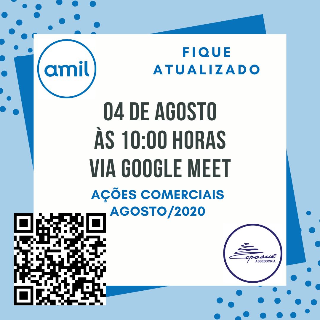AMIL: BATE PAPO AÇÕES COMERCIAIS AGOSTO/2020