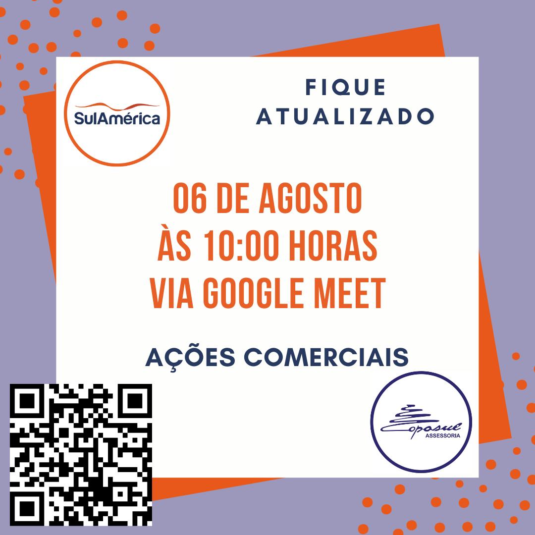 SULAMÉRICA: BATE PAPO AÇÕES COMERCIAIS AGOSTO/2020
