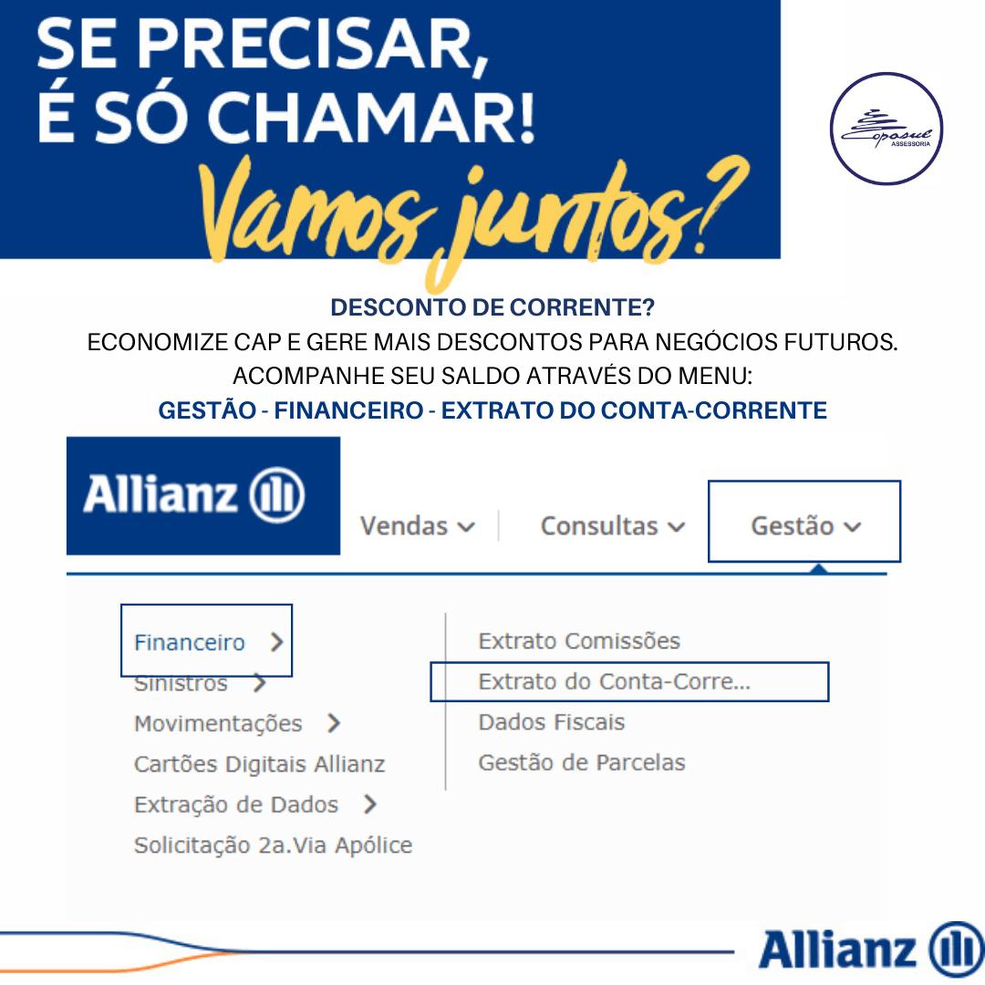 ALLIANZ: DESCONTO DE CONTA CORRENTE
