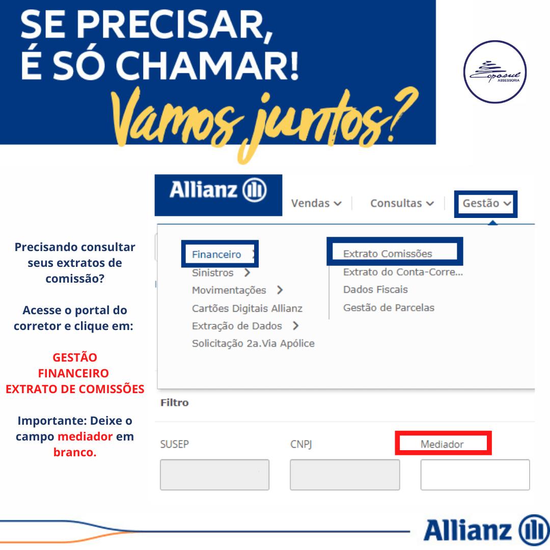ALLIANZ: EXTRATO DE COMISSÃO